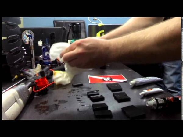 Подводная охота гидрокостюмы Тесты клея для неопрена Часть 1