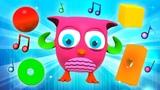 Детские песенки. Совенок делает зарядку под музыку для детей