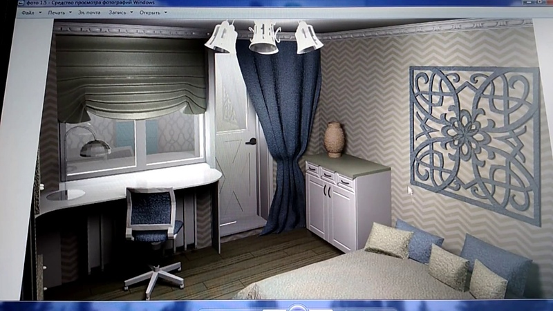 Дизайн-проект комнаты 18 кв. м. / Design project room 18 square. m.