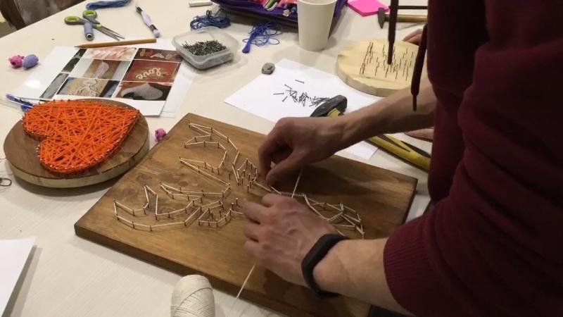Стринг-арт, панно из ниток