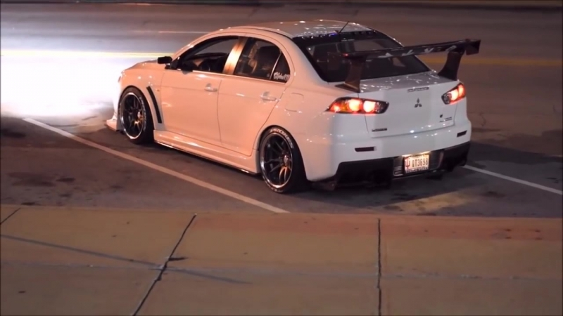 AEE__LIFE \\\AUTOCARS MITS EVO X __Night Lovell - Up North Bass Boosted 2018 HD