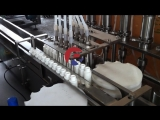 Reliance 8 heads spray bottle filling capping labeling machine