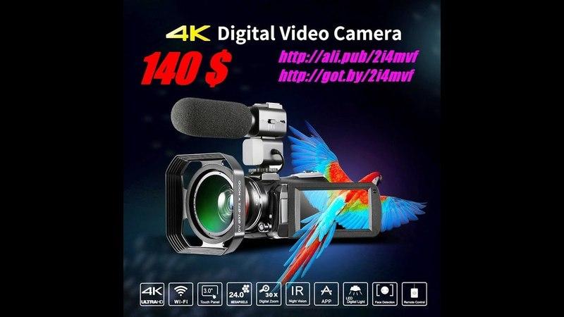 Andoer PRO, Видео Камера, 4 К, 24 mp, wifi, wExtra 0.39X, 2018