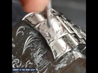 Smart is the New Sexy Hand-engraved Rolex Submariner. via Bram Ramon,
