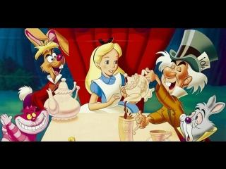 Алиса в стране чудес (1951) мультфильм Уолт Дисней (Диснея) HD720