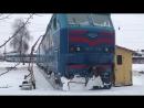 Электровоз ЧС7-168 на поворотном круге в ТЧ-2 «Харьков-главное»