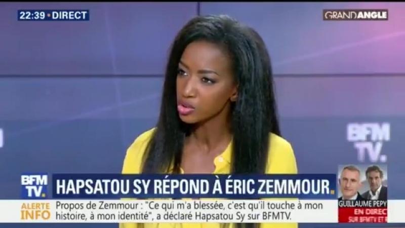 La sanction exemplaire que mérite Éric Zemmour, c'est d'être interdit de plateau de télévision, Hapsatou Sy