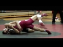 Hodges vs Blanton slow motion college wrestling 149 lb