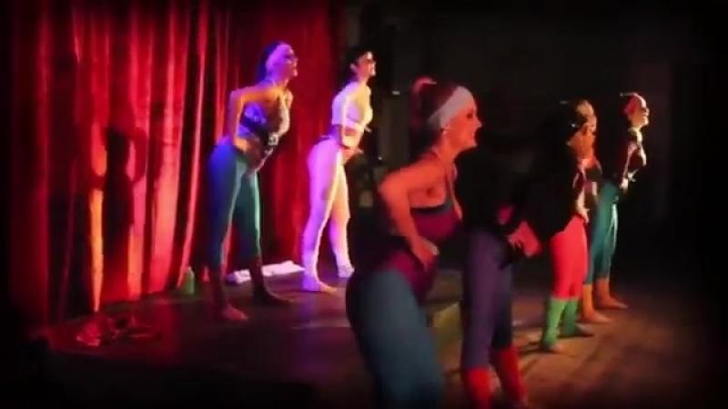 80s Aerobics Dance girls in Lycra.