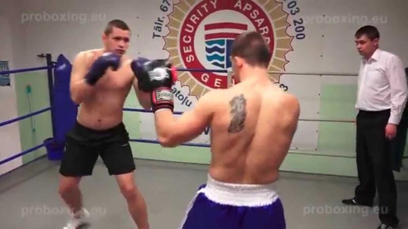 Žans Nastajus – 88,0 kg. VS Vitalijs Zakirko – 91,6 kg.10.12.2014 proboxing.eu