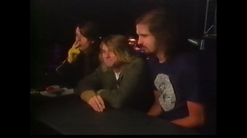 Nirvana (interview PRO footage) - November 5th, 1991, Astoria Theatre, London, United Kingdom