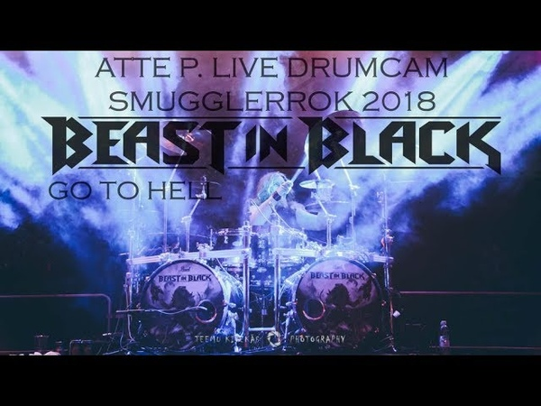 Atte P. Live Drumcam, Beast In Black - Go To Hell, Smugglerrok 2018