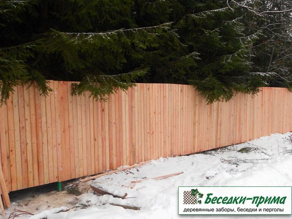 Деревянный забор «Дача»