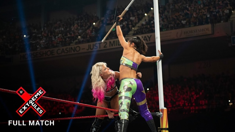 Video@alexablissdaily | FULL MATCH - Bliss vs. Bayley - Raw Women's Title Kendo Stick on a Pole Match: Extreme Rules 2017