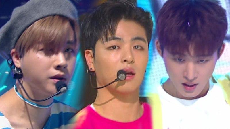 《EXCITING》 iKON(아이콘) - Rubber Band(고무줄다리기) @인기가요 Inkigayo 20180401