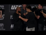 Demetrious Johnson vs. Henry Cejudo UFC 227 Media Day Staredown - MMA Fighting