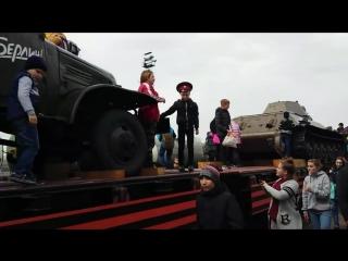 Ретропоезд Воинская слава в Новониколаевском...выставка на колёсах...