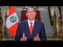 Martín Vizcarra planteó cuestión de confianza por reformas constitucionales Mensaje a la Nación
