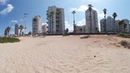 Relax on the beach of Mediterranean sea Israel, Tev Aviv, Bat Yam 360 VR