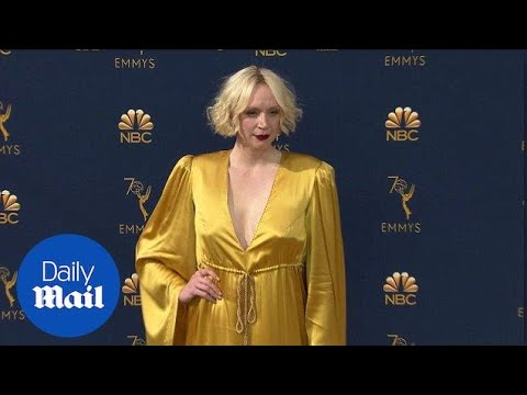 Hello sunshine! Gwendoline Christie arrives at 2018 Emmys