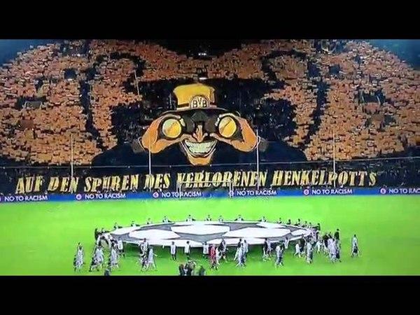 Ochen krasivy perfomans dortmundskih bolelschikov - Borussia Dortmund _ Borussiya Dortmund.360