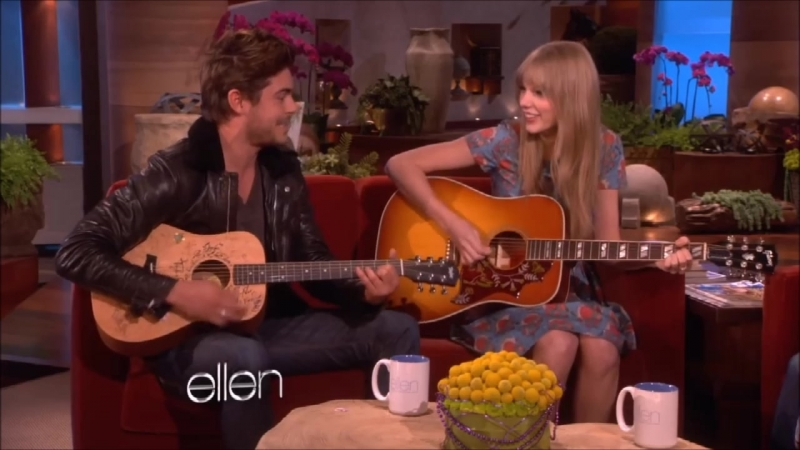Taylor Swift Zac Efron Pumped Up Kicks Live on The Ellen Show 2012
