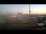 Авария на мосту 60 лет ВЛКСМ, Омск (20.12.2017)