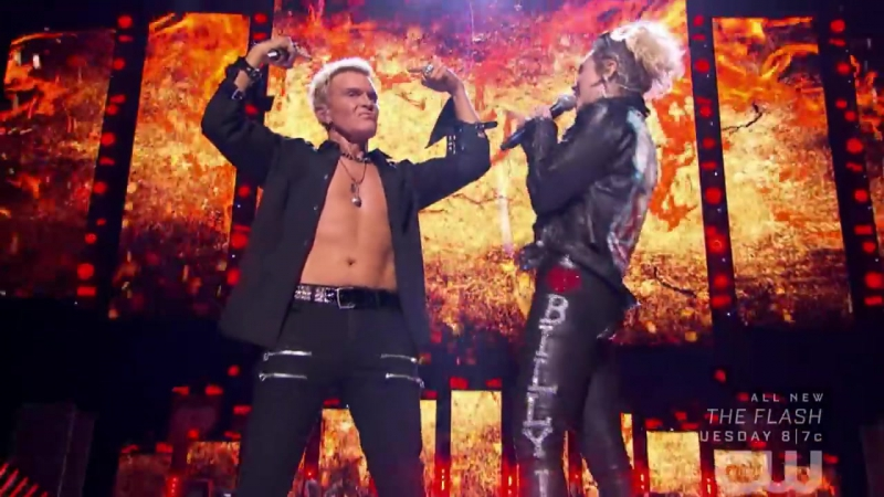 Billy Idol Miley Cyrus Rebel Yell LIVE Official Video