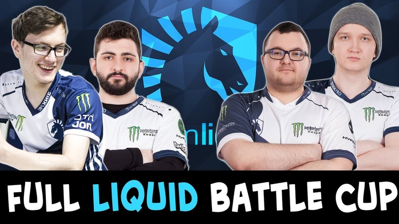 5-man LIQUID on Battle Cup — Miracle trying NEW heroes