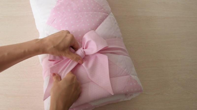 Как завязать бант на одеялке-конверте 🎀