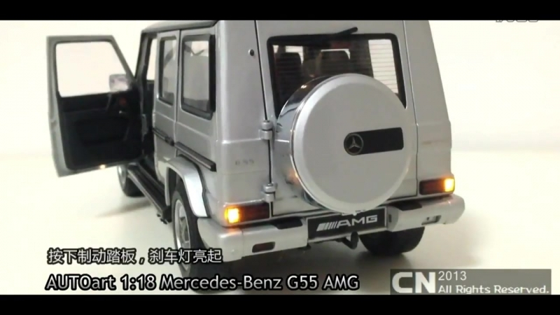 DIECAST MODEL AUTO}}} 118 Mercedes Benz G55 AMG__AUTOART LED Full {{{ FULL HD 2017