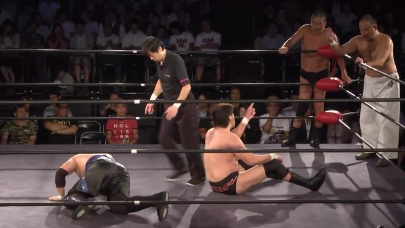 Daichi Hashimoto, Kaito Kiyomiya, Toru Sugiura vs. Shiro Koshinaka, Takao Omori, Yoshiaki Fujiwara (Toshiaki Kawada Produce)
