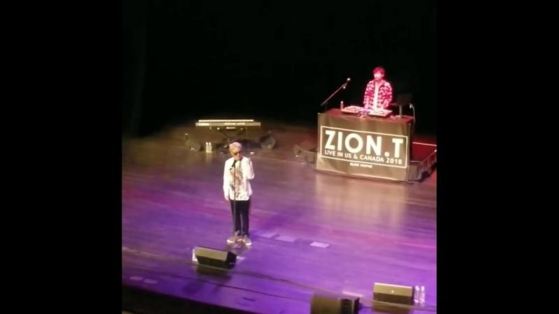 FANCAM Zion T Dodo San Jose CaliforniaTheatre 23 03 2018