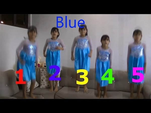 Learn Colors With 👗Dresses👗 Five Little Babies Jumping On The Bad Educational Activities For Kids