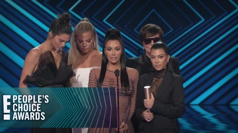 Kardashians Dedicate PCA Win to CA Firefighters First Responders | E! Peoples Choice Awards