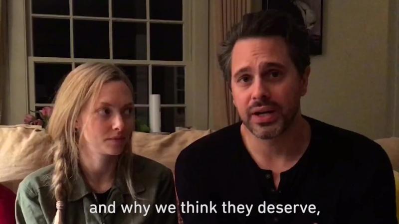 2017 Аманда и Томас Садоски с сообщением о сирийских беженцах