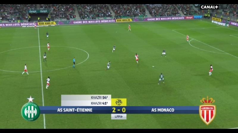Saint Étienne vs Monaco 2-0