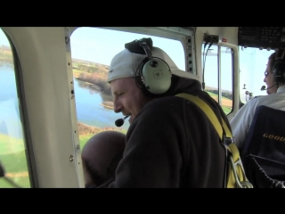 Dude perfect basketball shot from gy blimp - goodyear tires