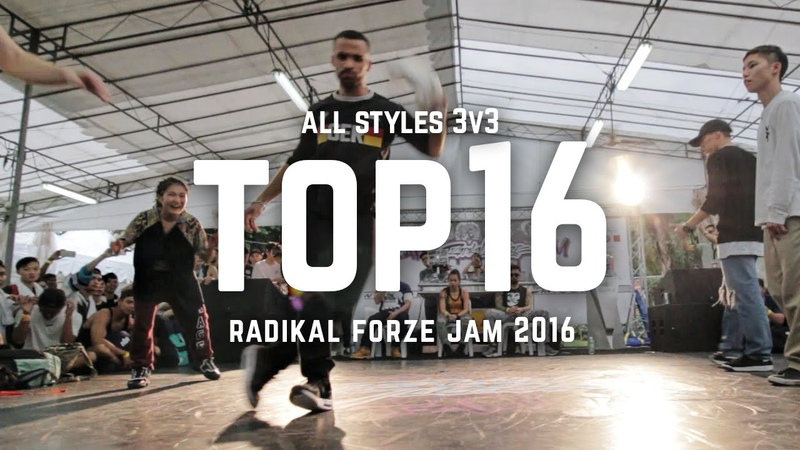 Waydi Majid Reina vs Sekai Katsuya Yoshiki | Top16 | 3v3 All Styles | RF Jam 2016 | RPProductions