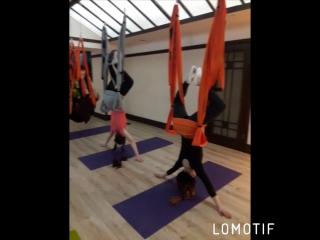 Йога в гамаках с Полиной Степановой. Йога-центр