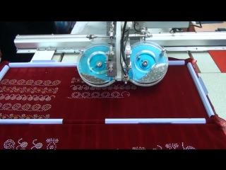 Автоматический станок для стразирования кристаллами двух цветов