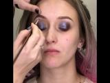 Вечерний макияж с пигментом