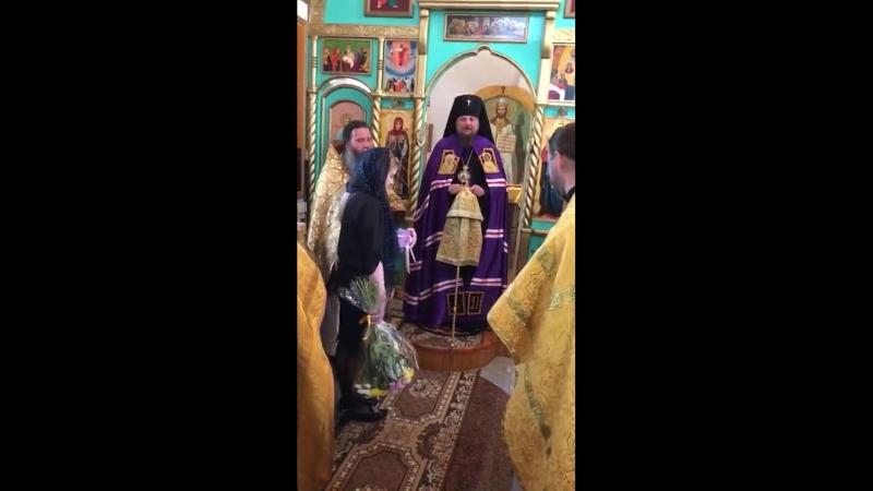 Божественная литургия архиерейским чином в Стефановском храме и молебен святителям Герасиму, Питириму и Ионе в Часовне Трех Свят