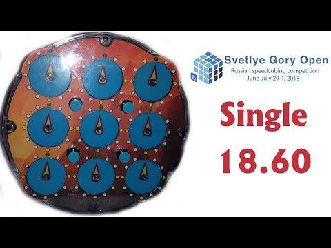 Rubik's Clock single 18 60 official solves