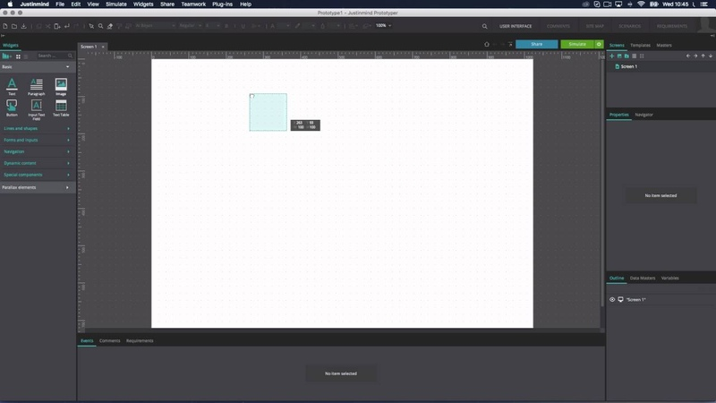 Rulers guides and grids for your wireframe workspace