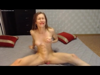 Amazing abs fit girl on webcam