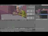 Анимация персонажа с помощью инструментов Blender