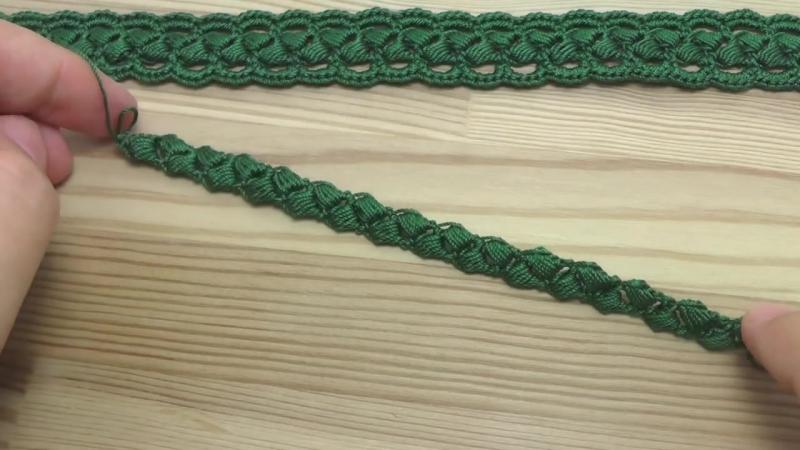 лент. кружево на основе шнура из пыш. столбиков 1