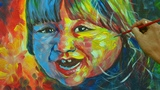 From Realist to Expressionist Artist Colorful World of a Child Acrylic Painting Tutorial