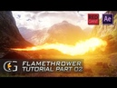 After Effects Trapcode Flamethrower Tutorial - Part 2 Compositing